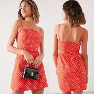 Urban Outfitters Kimchi Blue Red Polka Dot Dress